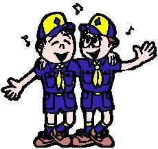 Cub Scouts singing