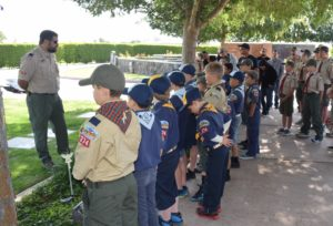 Dave talking to Cub Scouts